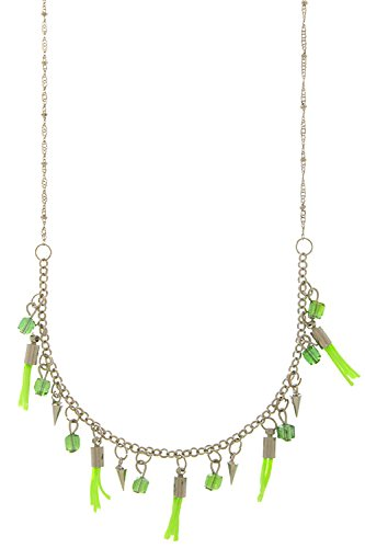 Karmas Canvas Sweet Thing Tassel Necklace (Neon Green)