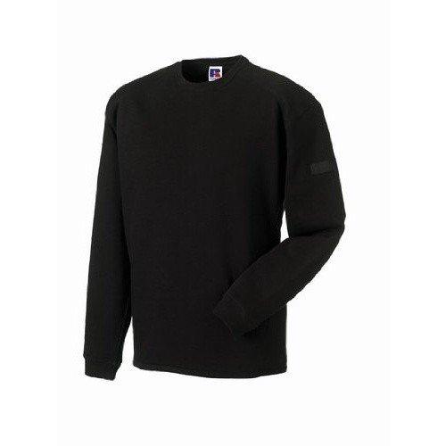 Russell Workwear Mens Crew Neck Set In Sweatshirt Top (XS) (Black)