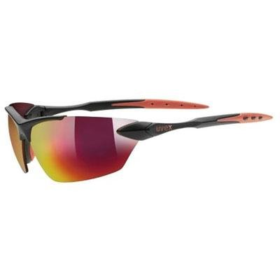 Uvex 2013 SGL 203 Sport Sunglasses - R530524 (Black Matte/Red)