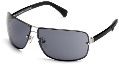 Kenneth Cole REACTION Men's KC2093 Aviator Sunglasses,Gunmetal