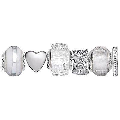 Lovelinks Silver  &  Glass Bead Set 1100730