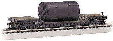 Bachmann Trains Boiler 52' Center-Depressed Flat Car-Ho Scale front-1066217