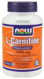 Now Foods L-Carnitine 1000 mg - 50 Tabs