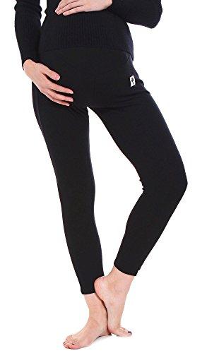 Simplicity Fit Stretch Over Bump Maternity Pregnancy Leggings, 3025_Black