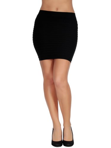 slim slip on mini pencil skirt