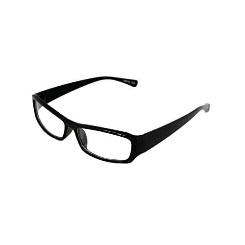 ファッショングラス 伊達メガネ サングラス スクエア 黒ぶち チェック メンズ E260926-03 ブラック F