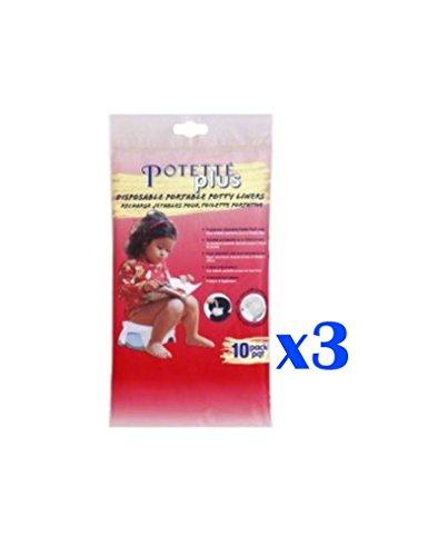 Potette Plus Disposable Portable Potty Liners 30 Pack - 1