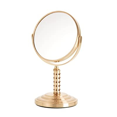 Best Cheap Deal for Danielle Dual Sided Swivel Vanity Make-Up Mirror with 5X Magnification, Studded Gold from Danielle - Free 2 Day Shipping Available