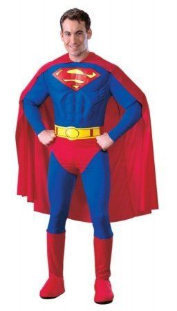 Costumes For All Occasions Ru888016Sm Superman Adult Muscle Dlx Sm