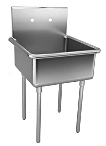 Just NSFB-130-2 Single Compartment 14ga T-304 Stainless Steel NSF Scullery Sink