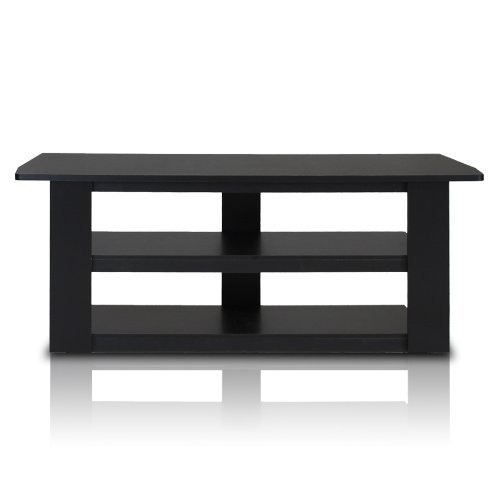 Furinno 12186BK Parsons Television Entertainment Center, 42-Inch, Black (Black Tv Entertainment Center compare prices)