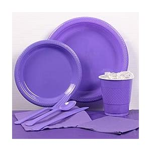Purple Plastic Party Pack For 20