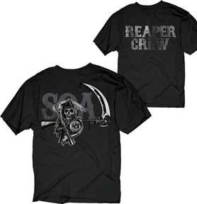 Sons of Anarchy Reaper Crew Layered Icons T-shirt (Medium)