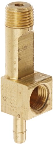 "Eaton Weatherhead 1075X4 Brass Ca360 Mini-Barb Brass Fitting, Adapter Tee, 1/4"" Tube Od X 1/8"" Male & Female Pipe Thread front-565274"