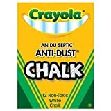 Crayola Non-toxic Anti-Dust White Chalk. (One Box)