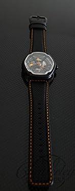 Dietrich OT-6 Organic Time 6 Black and Orange Watch