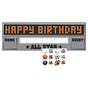 Creative Converting Team Sports Giant Happy Birthday Party Banner with Stickers, 20 X 60 Inch by Creative Converting-Toys