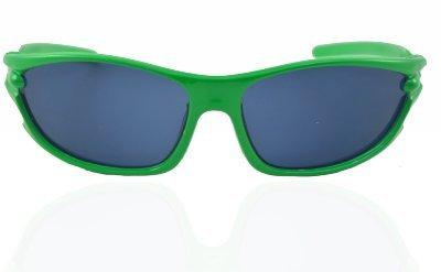 "ANGEL GLITTER ""Green Glory Of Summer"" Matrix-Style Kids Wayfarer Sunglasses"