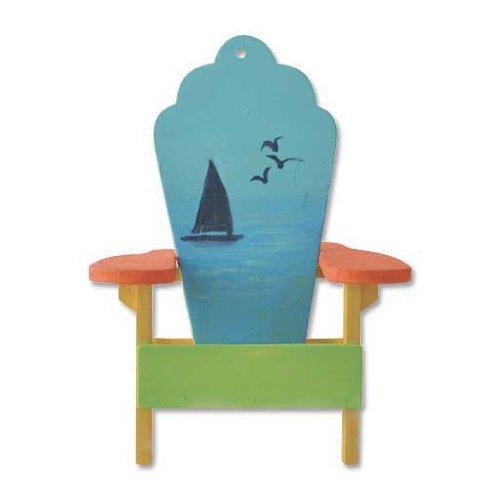 Dollhouse Miniature Sailboat Adirondack Chair