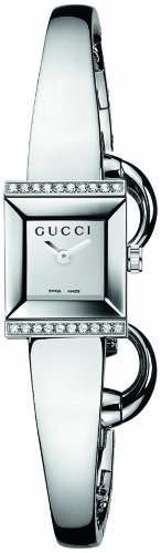 "Gucci Women's YA128504 ""G-Frame"" Stainless Steel Diamond-Accented Watch"
