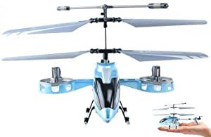 F103 Fire Wolf Mini AVATAR RC Helicopter Blue Metal Series W/ Gyro 4 Channel Remote Control