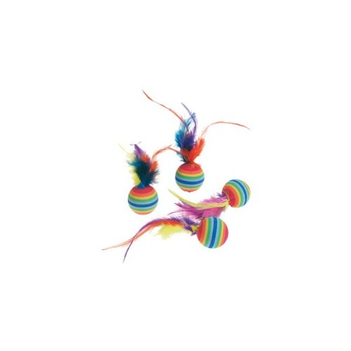 Katzenspielzeug-4-Rainbowblle-mit-Feder--3cm-502203