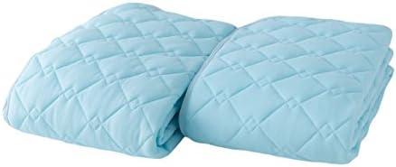 ナイスデイ 吸湿速乾 さらっとクール敷パッド2枚組 シングル ブルー 51700102