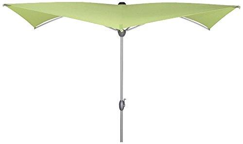 Siena Garden Sonnenschirm Granada 2,5×2,5m Aluminium-Unterstock silber Polyester 250g/m² limette UPF 50+, mit Kurbel günstig bestellen