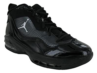 Nike Air Jordan Melo M8 Mens Basketball Shoes Black/Metallic Silver-Dark Charcoal 469786-001-9.5