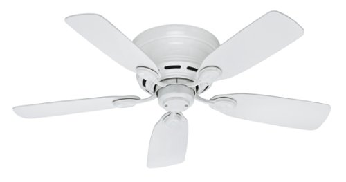 Hunter Fan Company 51059 Low Profile IV 5-Blade Ceiling Fan, 42-Inch, White