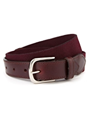 Rectangular Buckle Stretch Web Belt