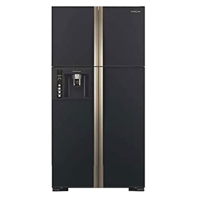 Hitachi R-W720FPND1X Side-by-Side Multi-door Refrigerator (655 Ltrs, Glass Black)