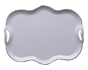 Gracie China Gold Trimmed Porcelain 15-Inch Tea Set Tray by Gracie China Coastline Imports