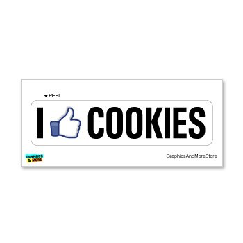 I Like COOKIES - Window Bumper Sticker