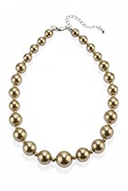 Faux Graduated Pearl Collar Necklace