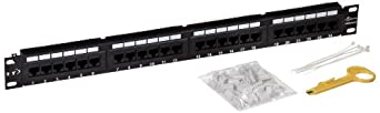 Morris Products 88044 Cat 5E High Density Patch Panels, 24 Port Patch Panel