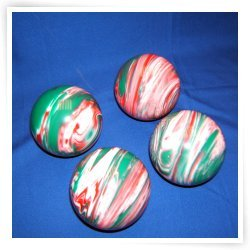 Premium Quality EPCO 4 Ball 107mm Tournament Bocce Set - Marbled Red/White/Gr...