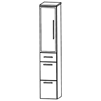 Puris Star Line (HNA093B7ML / R Tall Cupboard Bathroom Cupboard 30 CM