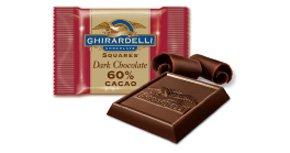 Ghirardelli 60% Cacao Dark Chocolate with Caramel ~30ct Bulk~ (Gourmet,Ghirardelli,Gourmet Food,Candy)