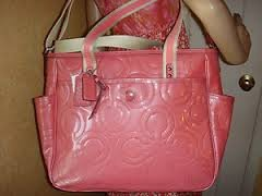 Coach Stitched Patent Leather Baby Diaper Bag from Coach