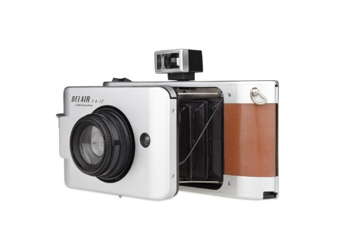 Review Lomography Belair X 6-12 Jetsetter Medium Format Folding Camera - Metal/Leather (Silver/Brown...