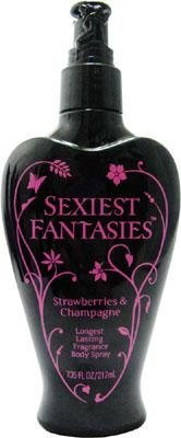 Sexiest Fantasies for Women Strawberries and Champagne Body Spray, 7.35 Ounce