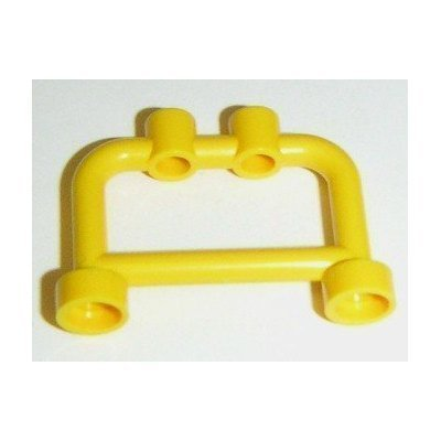 Lego Building Accessories 1 x 4 x 2 Bright Yellow Hanger, Bulk - 50 Pieces per Package