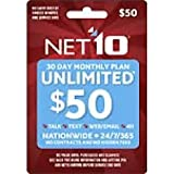 Wireless Refill Minutes Net10 Cellular Prepaid Airtime Top up $50