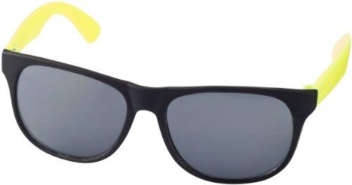 """Retro Sonnenbrille - UV 400 zertifiziert - Sonnenbrille im """"Nerdlook"""" (schwarz und gelb)"""