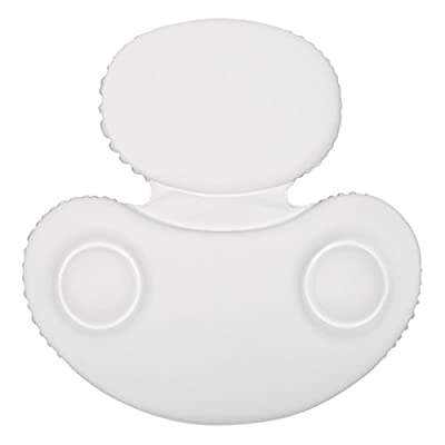 HomeCrate Two Panel Spa Bath Pillow with suction cups White