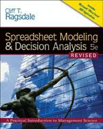 Spreadsheet Modeling and Decision Analysis, 5th Edition