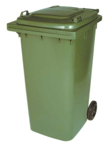 WHEELIE BIN - Green - 240L (Normal household size)-Free Delivery to Mainland, England and Wales