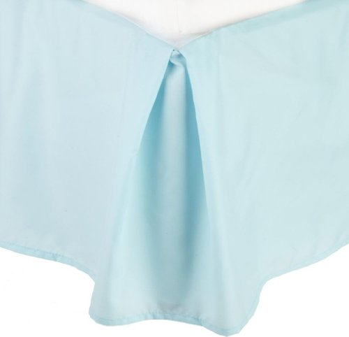 Best Buy! Clara Clark ® Premier 1800 Collection Solid Bed Skirt Dust Ruffle, King Size, Aqua Light ...
