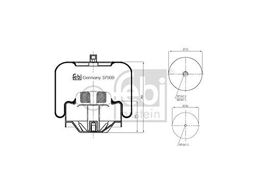 Febi Bilstein 37900 Boot, air suspension